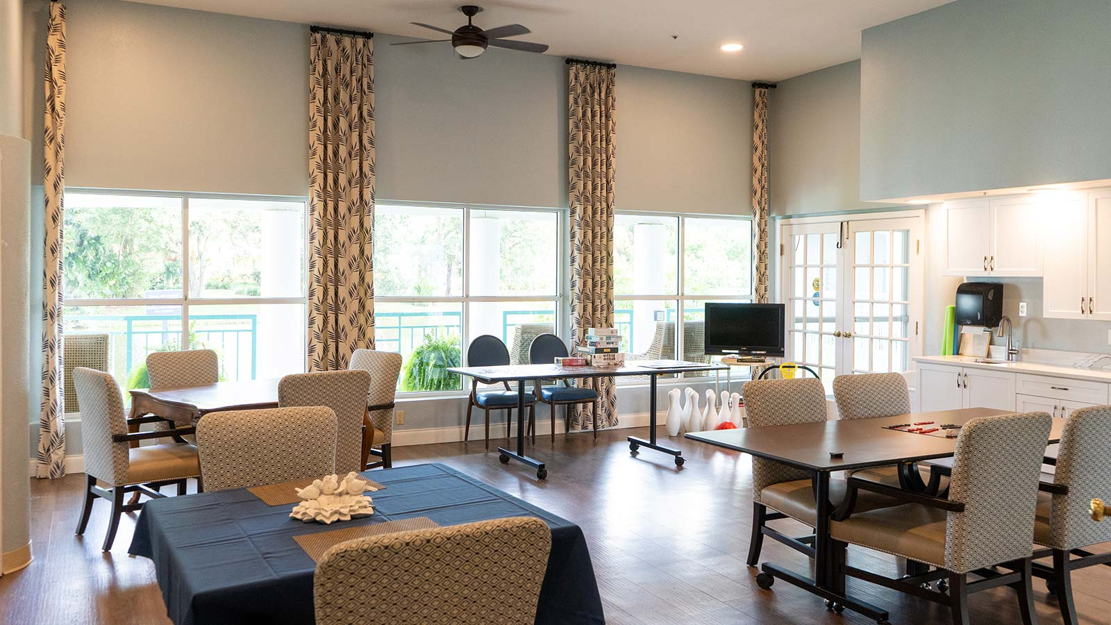 Activities room at Heron Club assisted living and memory care in Sarasota Florida