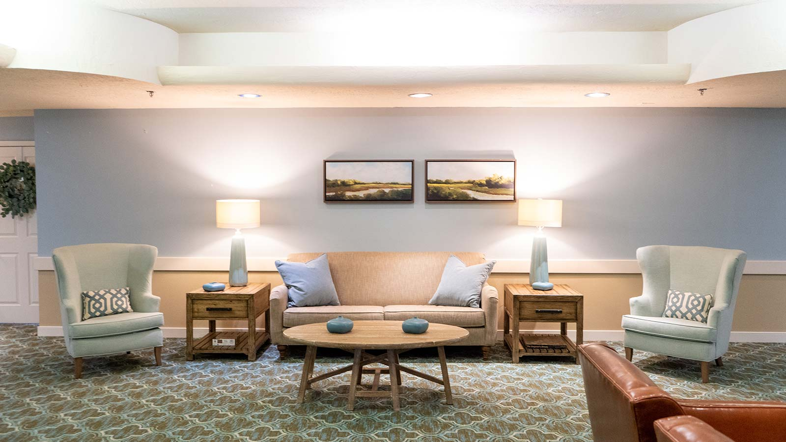 Common area at Heron Club assisted living and memory care in Sarasota Florida